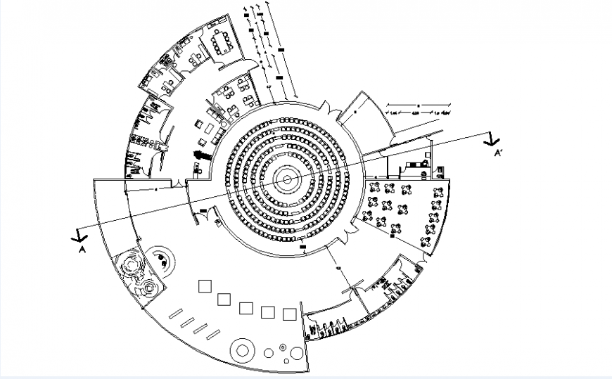 Planetarium architect design dwg file