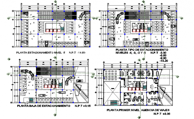 planing office detail dwg file