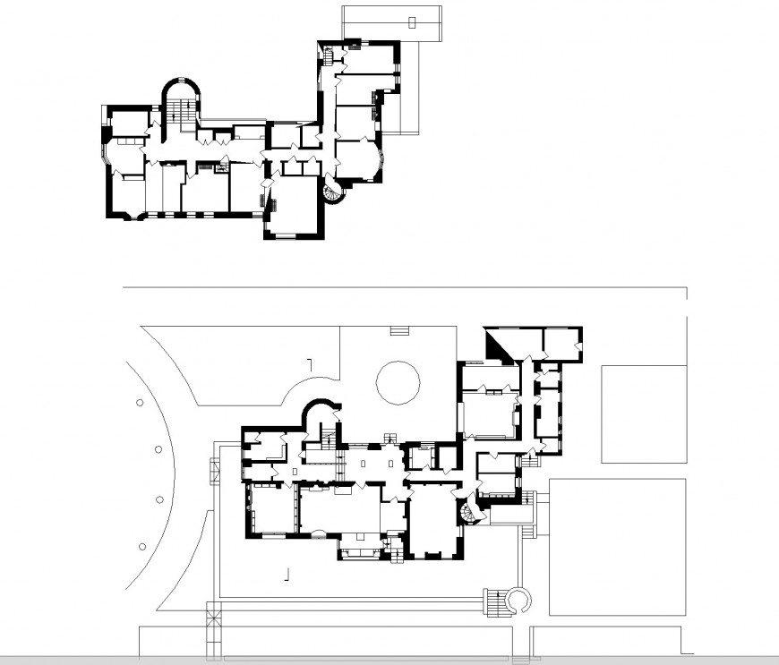 Planning hill housing auotcad file