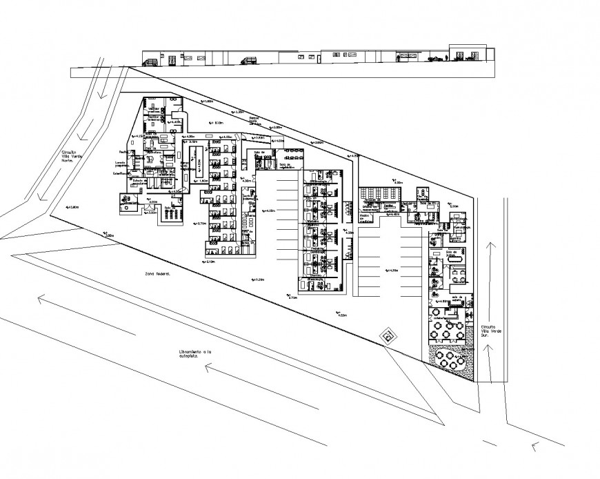 Planning Hospital commercial plan layout file