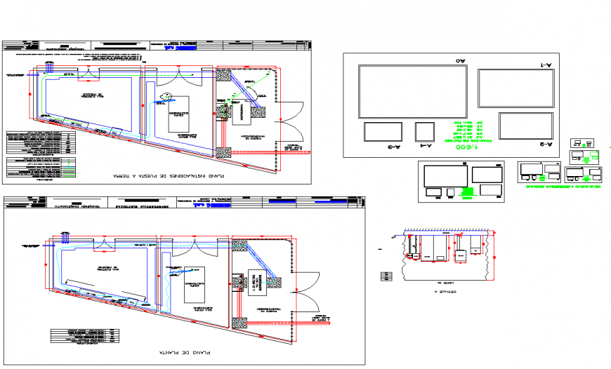 Planning hospital rooms detailing layout file