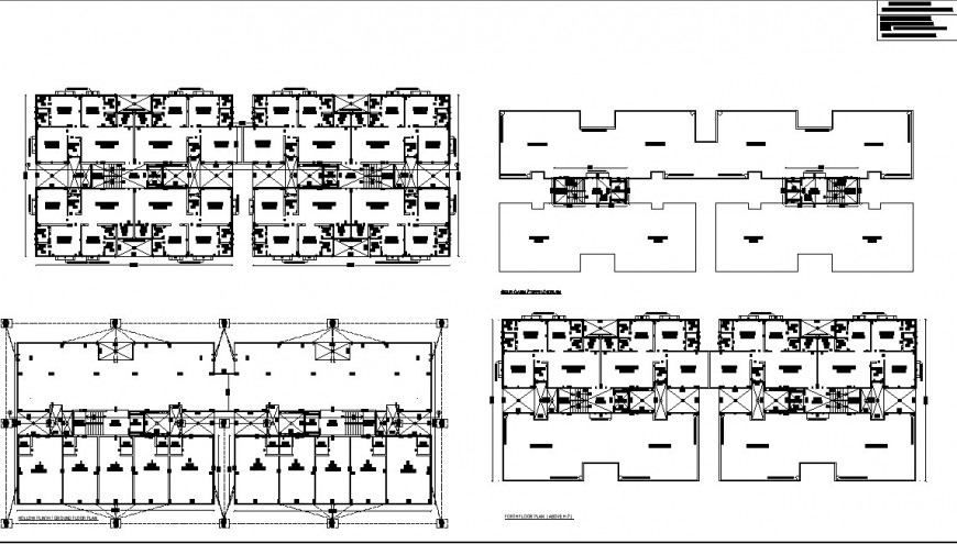 Planning of commercial school detail dwg file