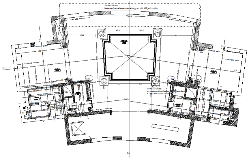 Plaster paint house layout plan with framing plan details dwg file