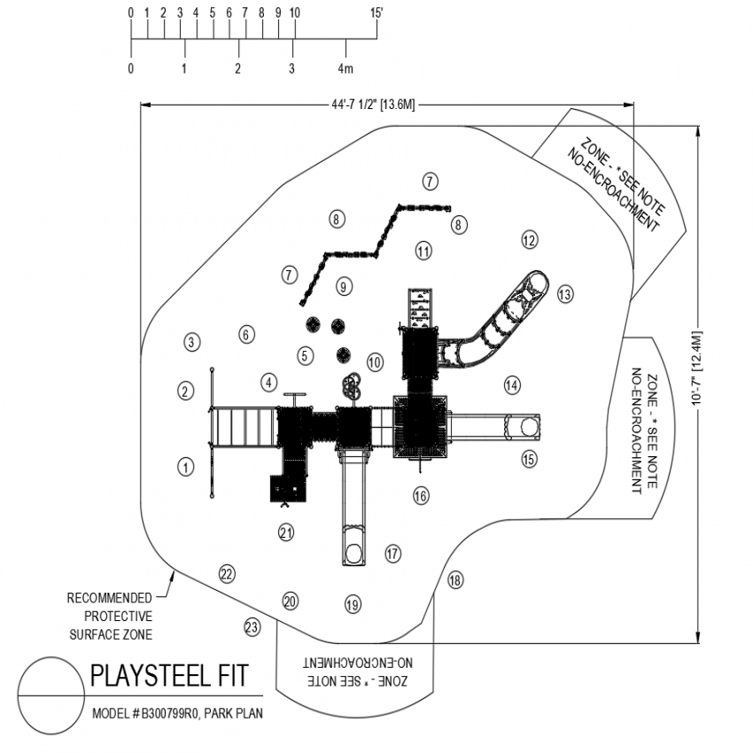Play steel fit playing area plan dwg file