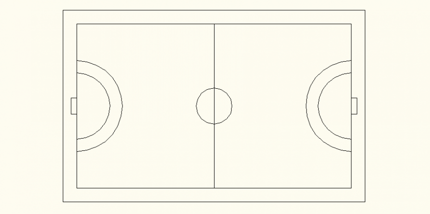 Playground of basket ball with sport center design dwg file