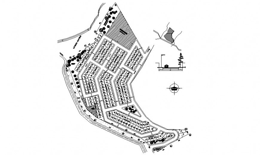 Plot area detailing drawiing in autocad software