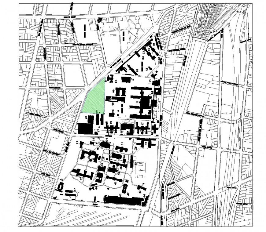 Plot commercial building plan detail elevation autocad file