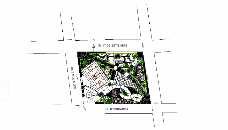 Plot layout commercial building detail dwg file