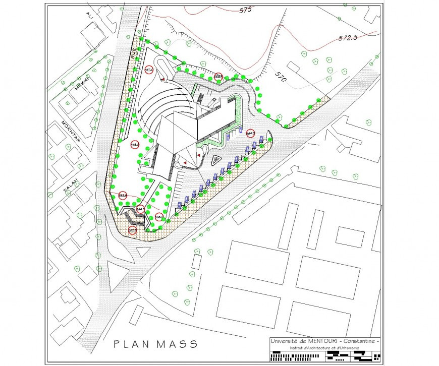 Plot planning in hotel layout file