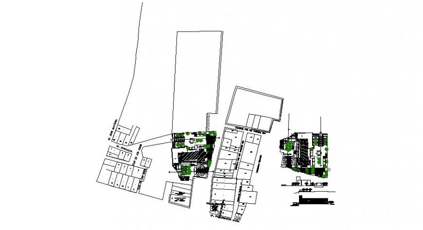 plotting design with landscaping design cad file