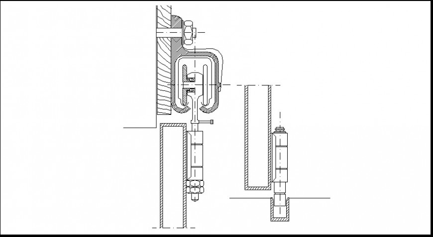 Plumbing and pipeline sectional 2d