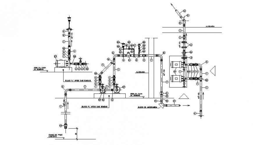 Plumbing blocks detail 2d drawings autocad software file