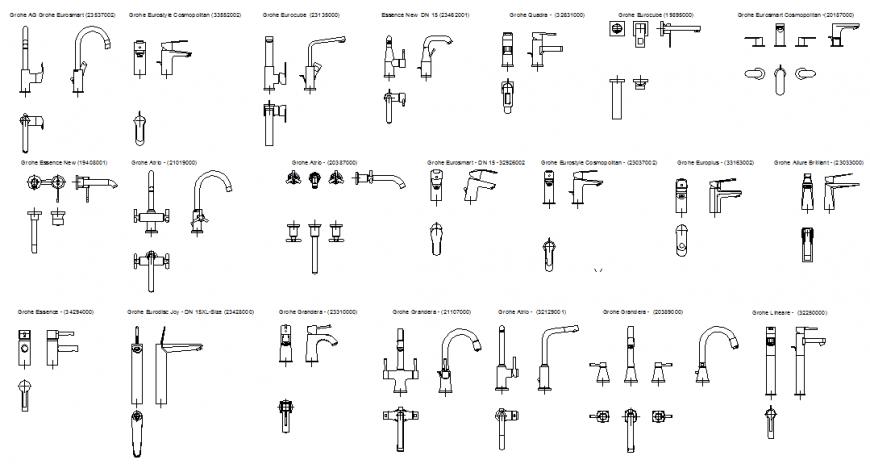 Plumbing blocks detail elevation autocad file