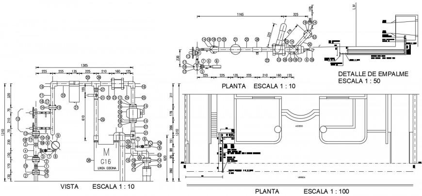 Plumbing blocks drawings details 2d view plan autocad software file