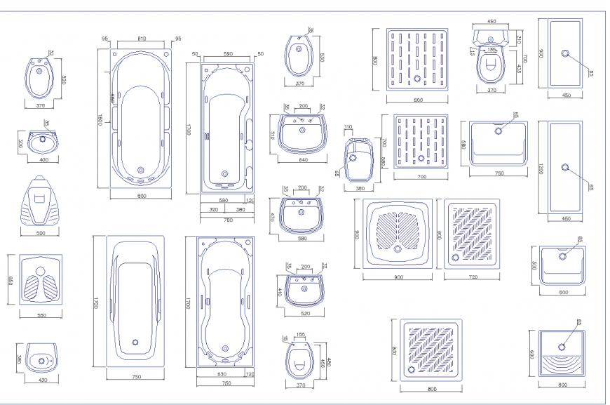 Plumbing sanitary 2 d planning autocad file