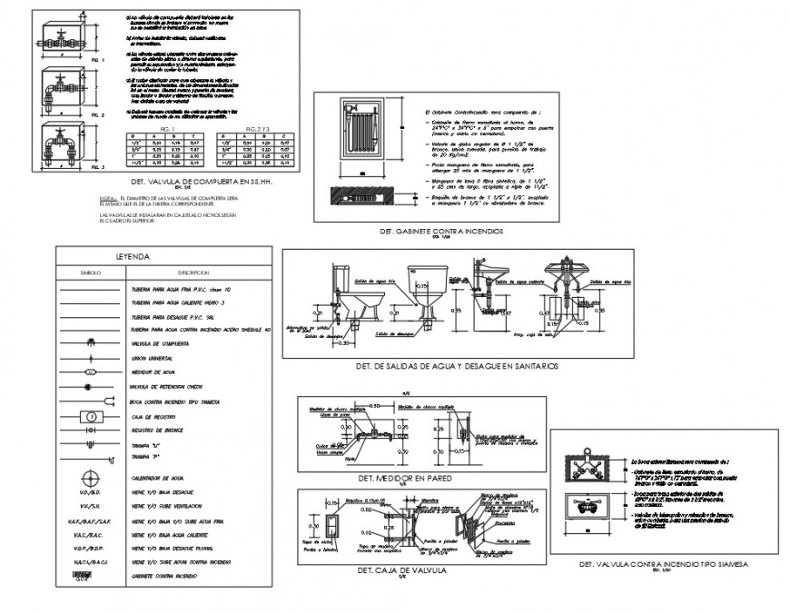 Plumbing sanitary elevation and section autocad file