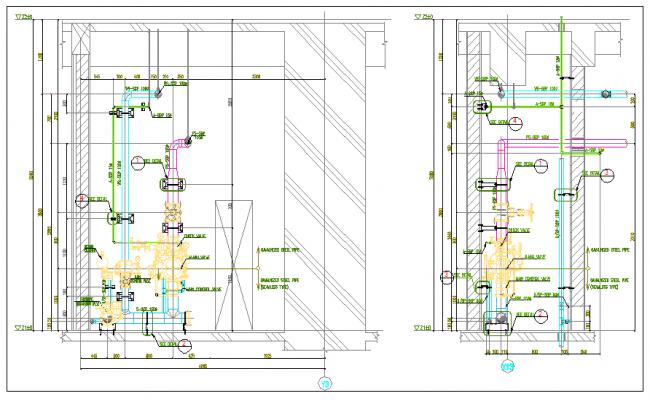 plumping detail  dwg file