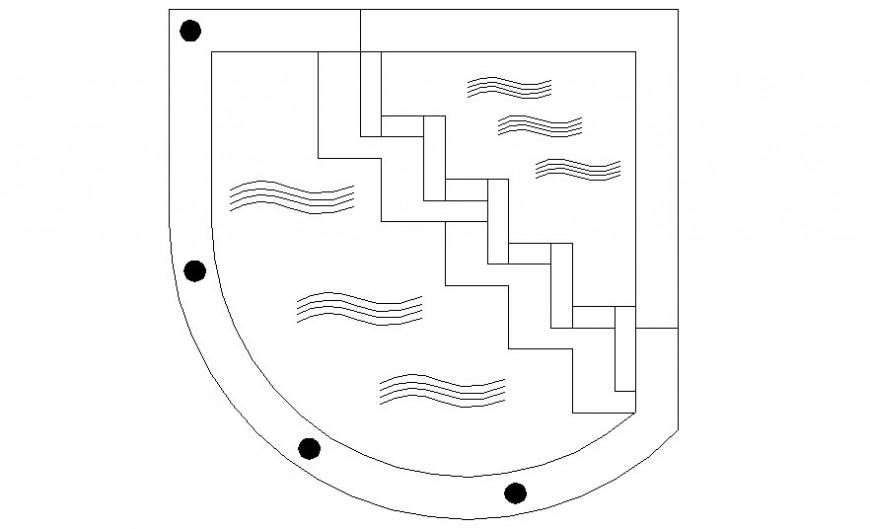 Pool design details 2d view autocad software file