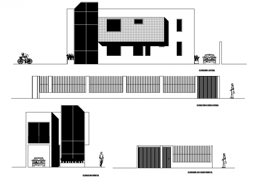 Posh and new concept of elevation of a building detail