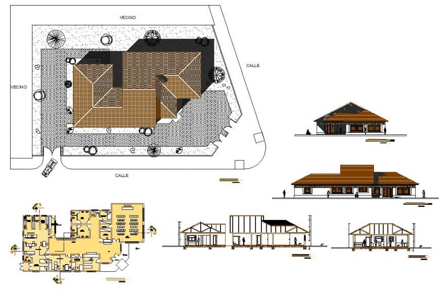 Posh office 2d elevation file detail