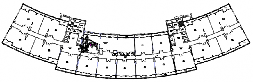 Pre-village clubhouse distribution plan cad drawing details dwg file