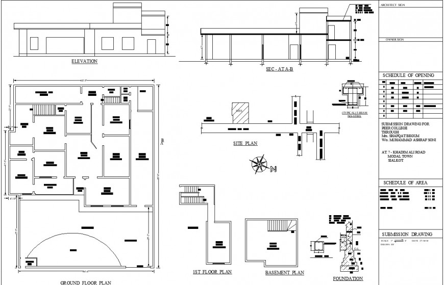 Pre collage ground floor drawing detail drawing in dwg AutoCAD file.