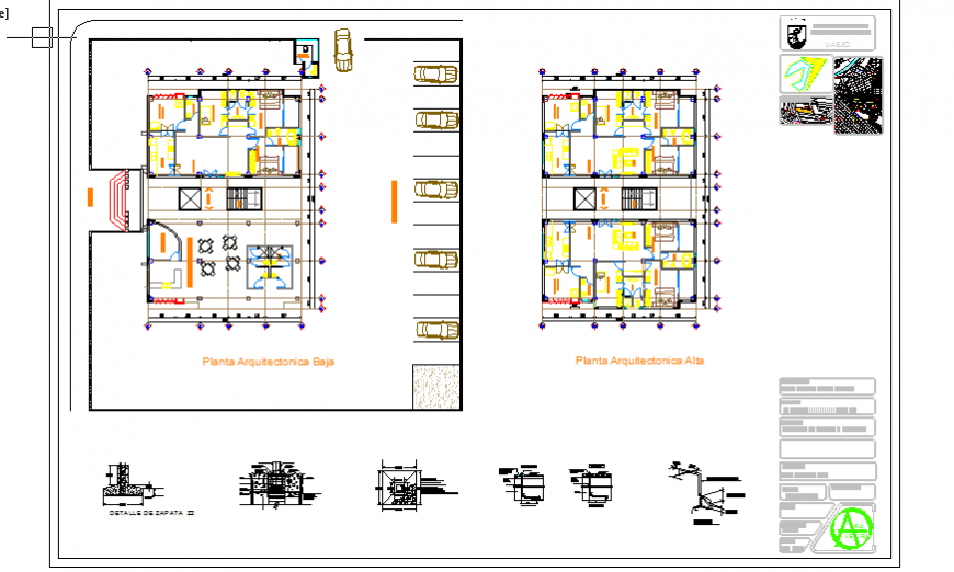 Presentation Layout design drawing of Bungalow design drawing