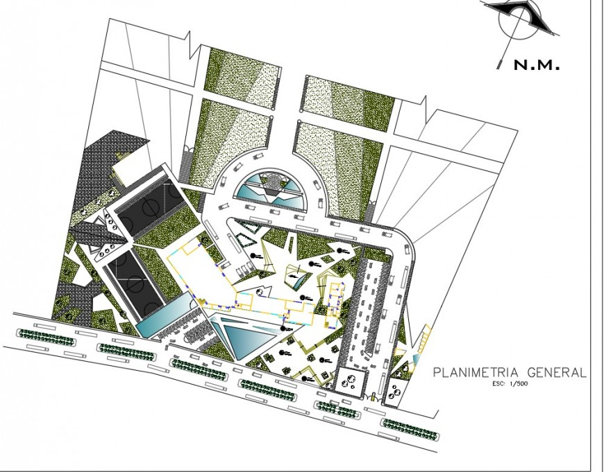 Primary general multi story building plan layout file