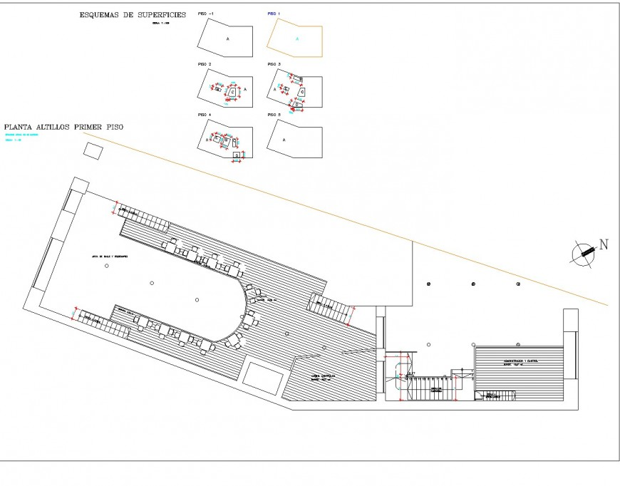 Primary level commercial plan detail dwg file
