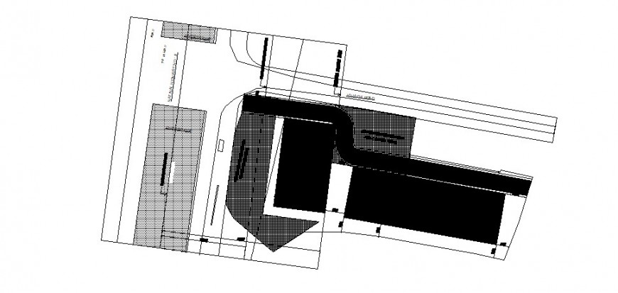 Primary school building site layout plan cad drawing details dwg file