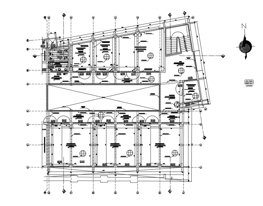Primary school layout plan and structure cad drawing details dwg file
