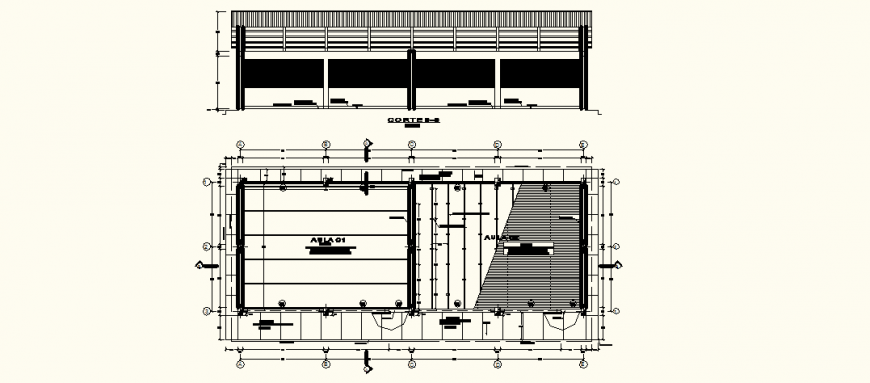 Primary school section detail drawing in dwg AutoCAD file.