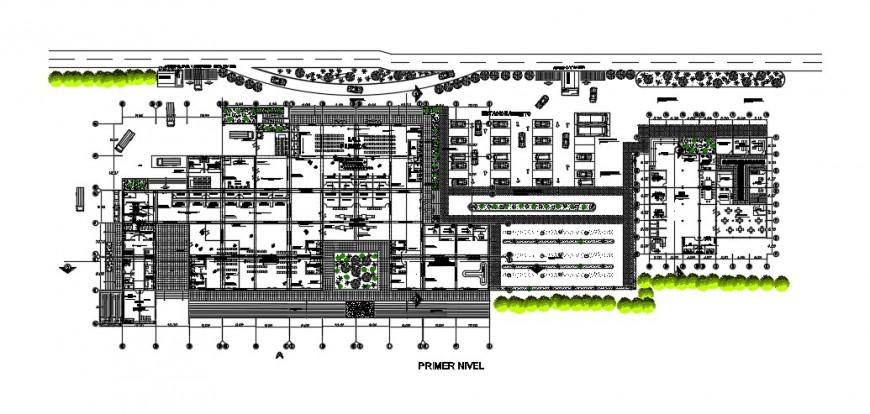 Primer level distribution plan drawing details of Peru airport dwg file