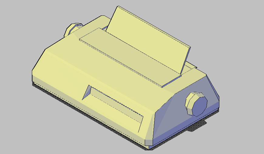 Printer machine detail 3d view autocad file