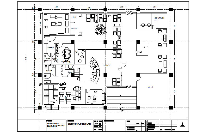 Private Bank Office Interior Design Layout And Furniture Layout