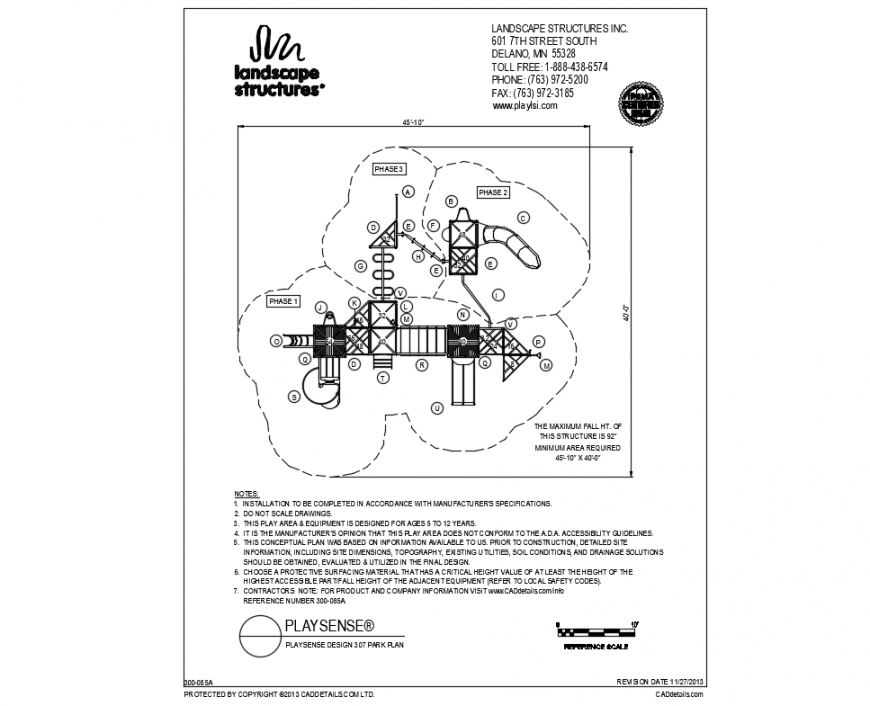 Private house garden site plan and landscaping details dwg file