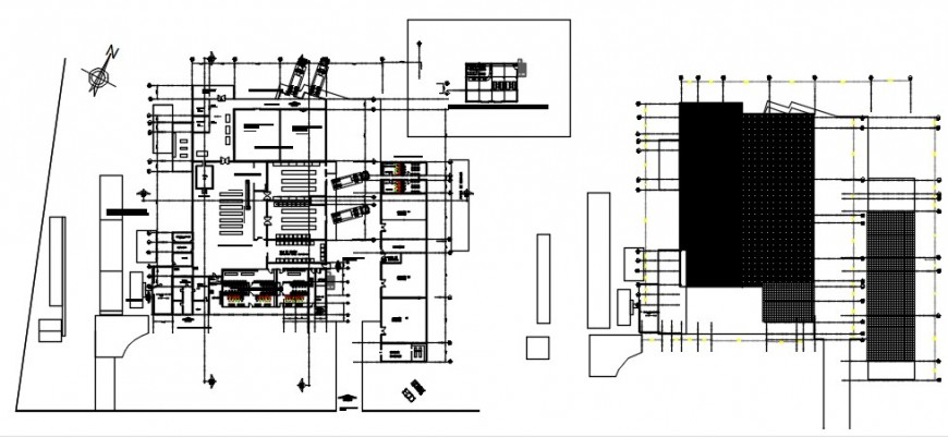 Processing plant of prawns in Tumbes distribution plan drawing details dwg file