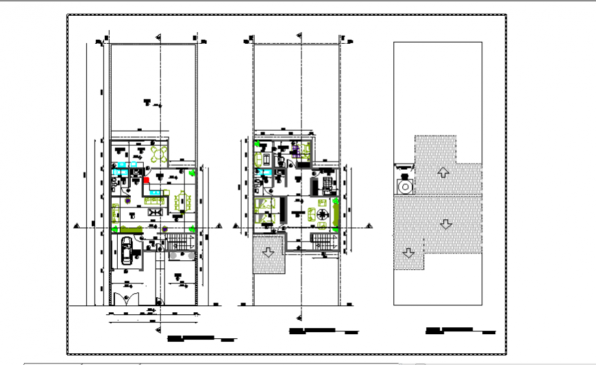 Project of housing 2 levels design drawing