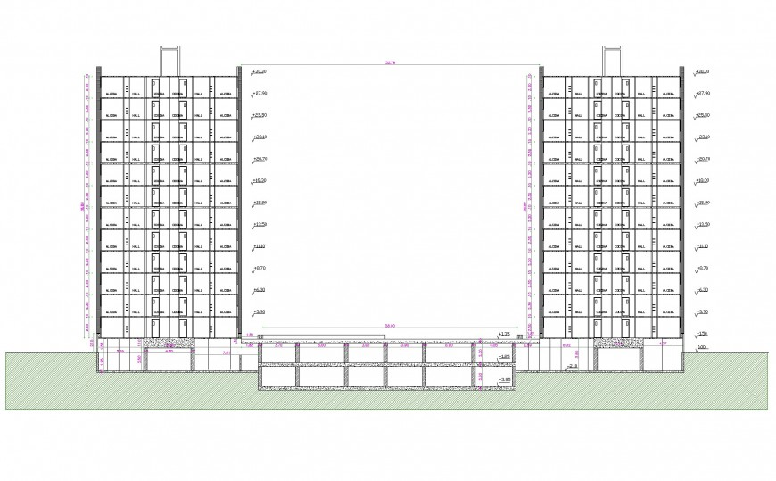 Project of housing section autocad file