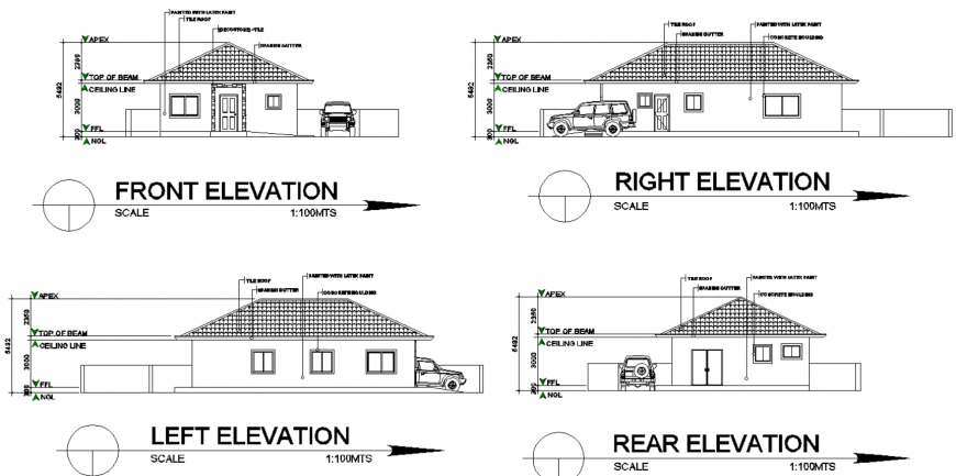 Project of residence to floor detail plan with dwg file.