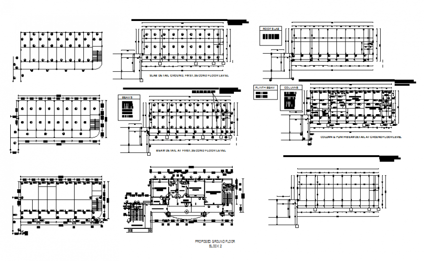 Propose ground floor and beam and column schedule at floor level cad drawing details of school dwg file