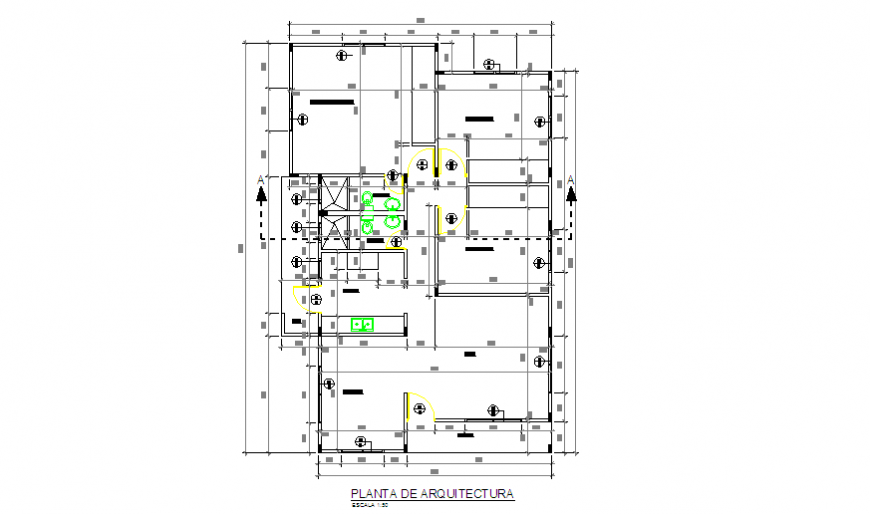 Proposed architectural layout design of Preliminary housing design drawing