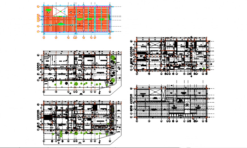 Proposed architectural layout plan of corner house design drawing