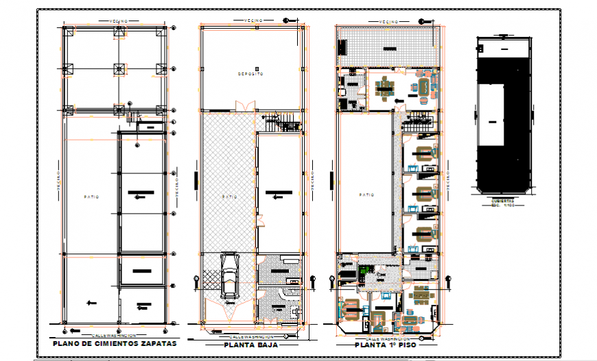 Proposed architectural plan design drawing of big family house