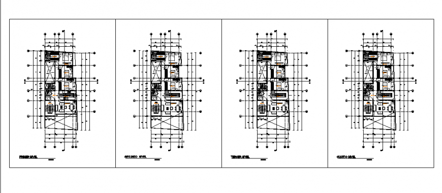 Proposed Floor layout design of multi familiary housing design drawing