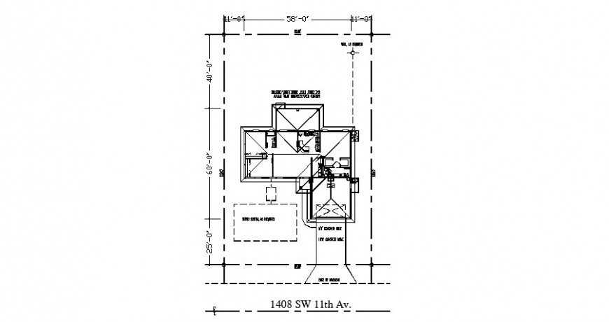 Proposed ground floor framing plan of house drawing details dwg file