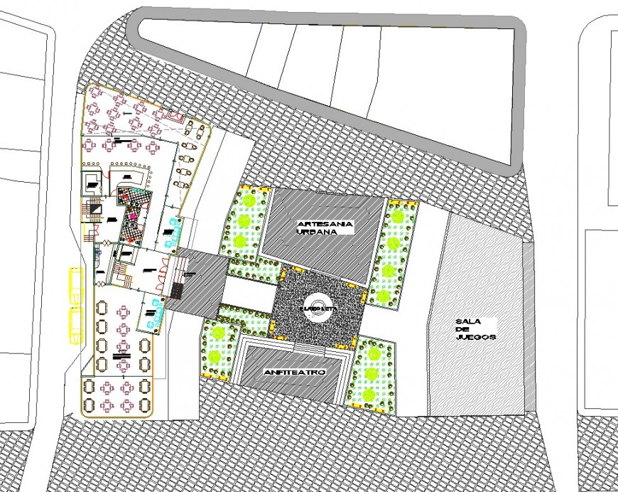 Proposed hotel planning layout file