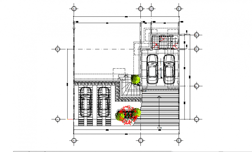 Proposed layout of basement design drawing of family house design drawing