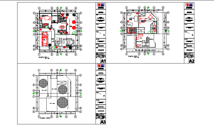 Proposed Layout of Single family House design drawing