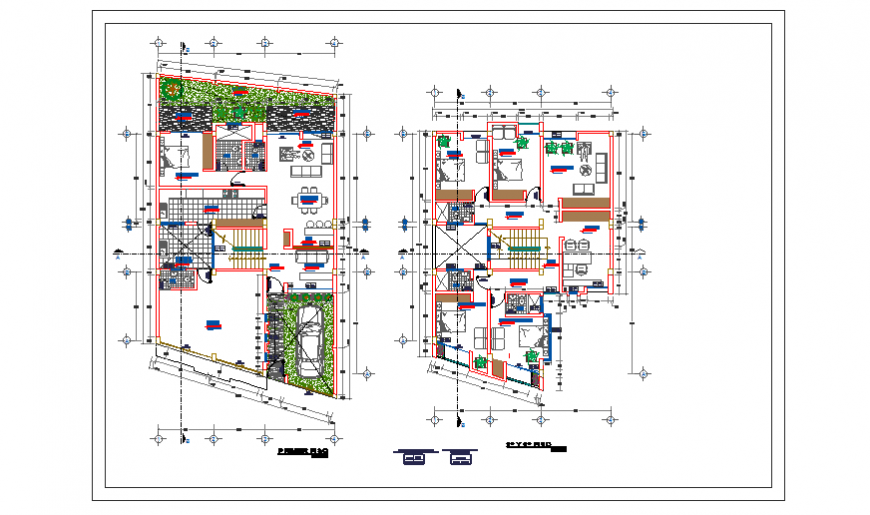Proposed layout plan design of living place design drawing